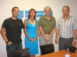 Reunió a la seu del PPC amb la Sra. Llanos