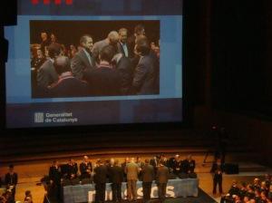 Acte del Dia de les Esquadres a l'Auditori de Barcelona