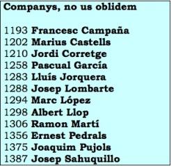 Companys, no us oblidem
