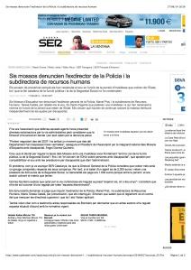 Sis mossos denuncien l'exdirector de la Policia i la subdirectora de recursos humans