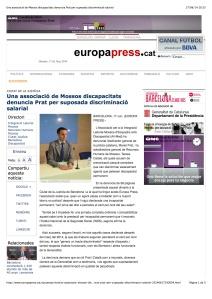 Una associació de Mossos discapacitats denuncia Prat per suposada discriminació salarial