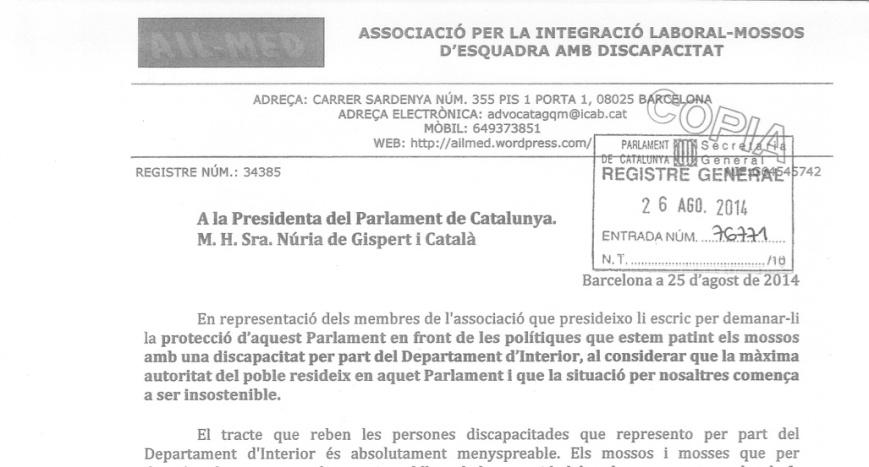 Carta al Parlament