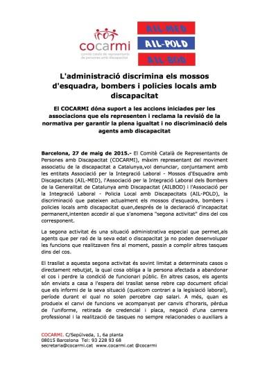 NP Discriminació agents mossos (arrossegat)
