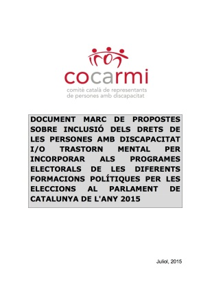 Document marc eleccions Parlament Catalunya 2015