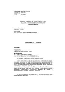 Sentència TSJC Danys morals