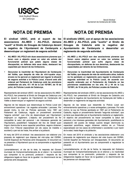 Nota de premsa cat-cas