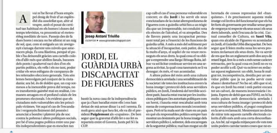 Diari Girona sobre Jordi